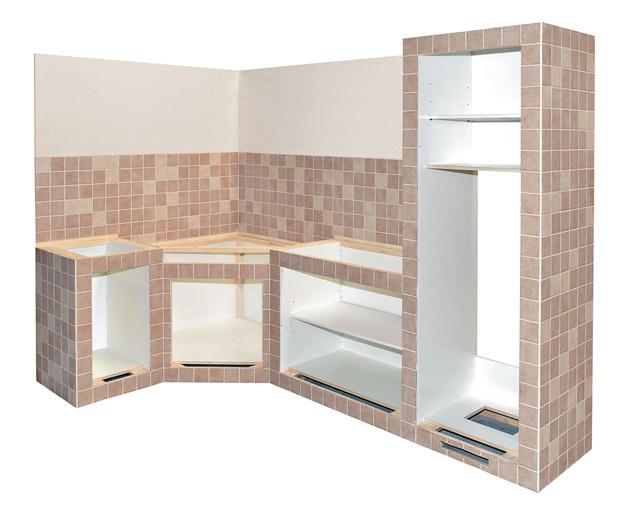 Produciamo cucine in muratura su misura per arredare il tuo spazio ...
